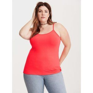 Size 5X Torrid NEON CORAL LAYERING CAMI